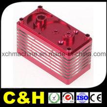 Piezas que trabajan a máquina del CNC de aluminio anodizado amarillo rojo negro del fabricante de China