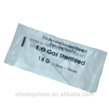 2016 Cheap Sterilized Disposable Body Piercing Needles Ear Nose Navel , G18