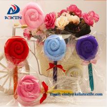 Regalos de la toalla de la torta al por mayor de la forma de Lollipop