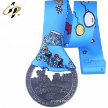 Hot selling custom metal hollow biking medals no minimum order