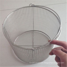 High Quality Rectangle Stainless Steel Wire Mesh Storage Basket