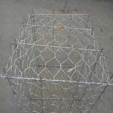 2 × 1 × 1m Gabião revestido galvanizado pesado encaixota a gaiola
