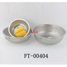 Stainless Steel Double Handle Vegetable Basket (FT-00404)