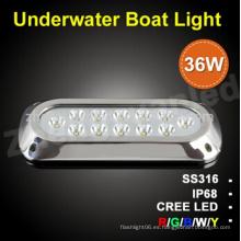 36W IP68 Warerproof LED luz de agua salada