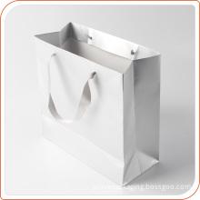 Shopping handbag for garment packing carrier white custom