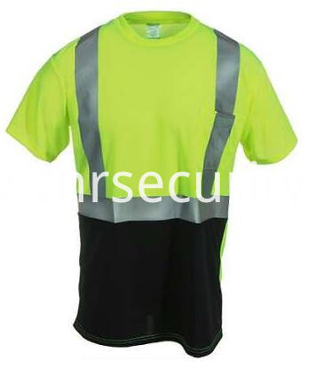 Men's Yellow Hi Vis Black Bottom Work Shirt
