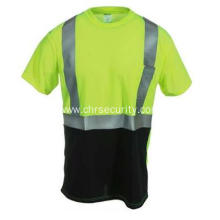 Men's Hi Vis Black Bottom Work Shirt