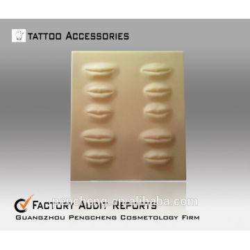 3D Labios Tatuaje Práctica de la piel