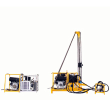 man portable gasoline rock drilling rig