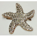 Fivela decorativa de metal Starfish com strass