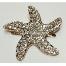 Starfish hebilla decorativa de metal con diamantes de imitación