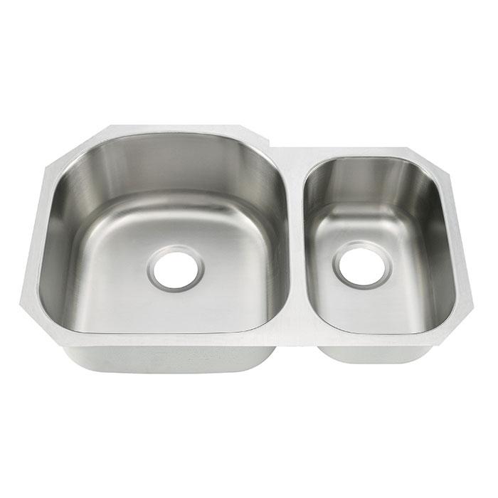 Built-in kitchen double sink