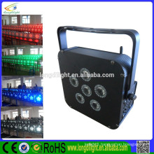 6*4W RGBW 4in1 battery powered Wireless DMX LED Flat PAR Lights/LED uplights