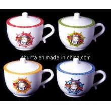 Utensílios de mesa de melamina de 100% -Cup com tampa / Louça de melamina de alto grau (BG630S)