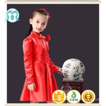 ropa de niños niñas vestido de estilo chino botón vestido de año nuevo vestido de cumpleaños