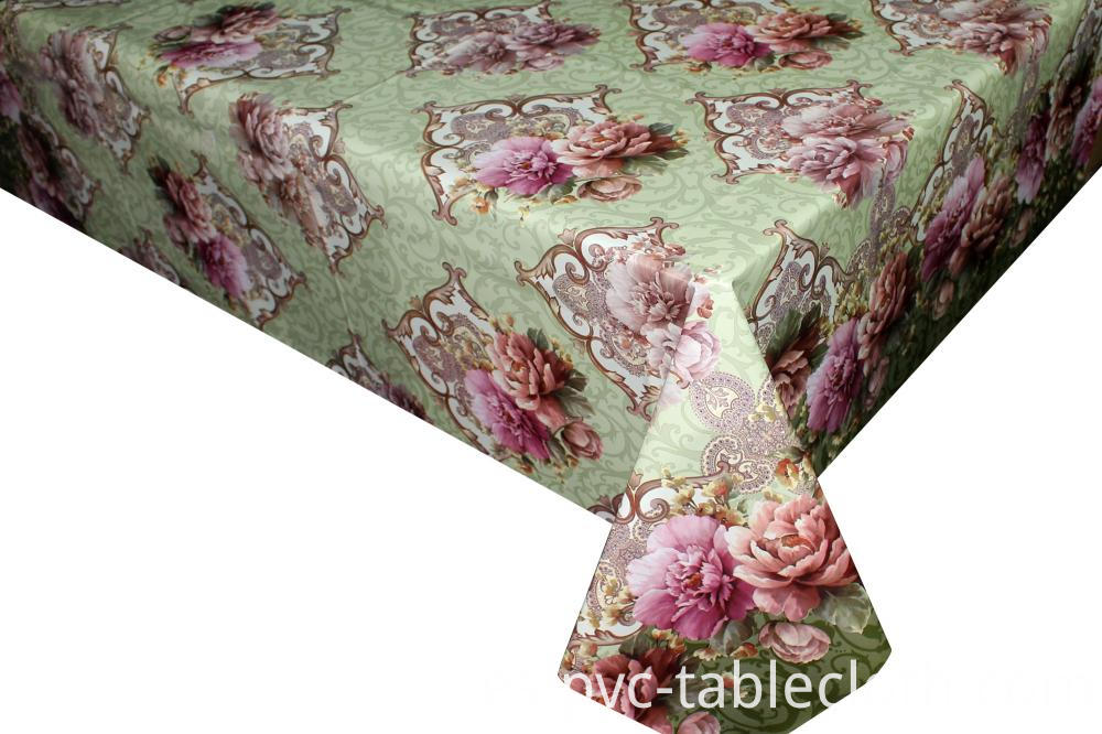 Flannel backing Tablecloth by Roll