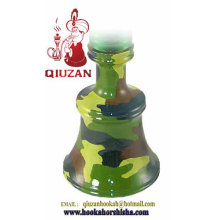 Medium Camouflage Color Shisha Glass Hookah Vase