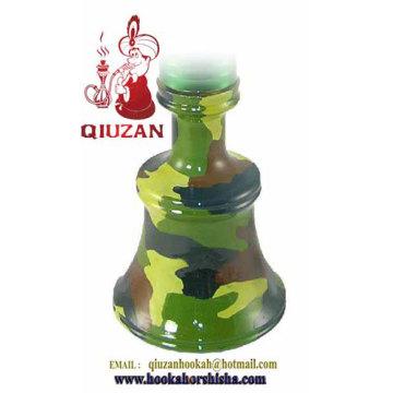 Mittlere Camouflage-Farbe-Shisha, Wasserpfeife Glasvase