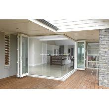 Portes pliantes en aluminium à ouverture résidentielle à ouverture maximale