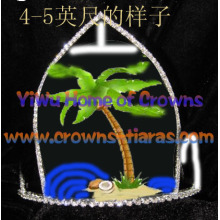 5inch Height Palm Tree Pageant Crowns