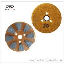 vecro backer metal bond diamond grinding disc for hard concrete