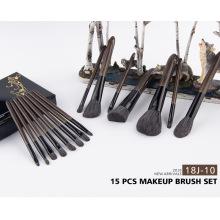 15pcs de alta qualidade prata lidar com pincéis de maquiagem definido