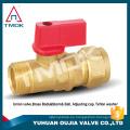 Válvula de bola de latón cw617n para mini puerto de PTFE aprobado por CE de gas con orificio forjado motorización válvula de mariposa bloqueable en delhi PN 40
