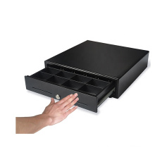 410mm Durable 5 bills 8 coins touch push drawer front open manual cash drawer