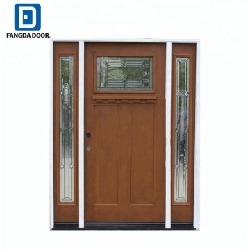 Fangda house front used exterior fiberglass doors for sale with door hinge