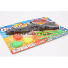 Brinquedo macio plástico da arma do presente barato do presente de Pistola das crianças com curva