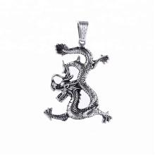 Pendentif-45 xuping mode pistolet noir couleur en acier inoxydable bijoux pendentif dragon animal chanceux