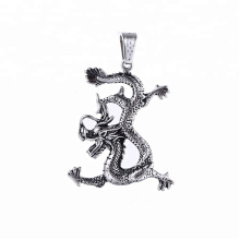 pendant-45 xuping fashion black gun color Stainless Steel jewelry Lucky animal dragon pendant