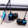 In-ear wire Earphone  with mic blue color