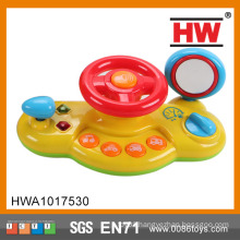 Funny Plastic Battery Operated Musical And Light Kids Steering Wheel Toy