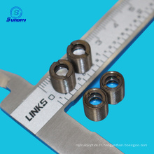Taille M9X0.5 lentilles focales en verre de collimateur de laser de 8mm de longueur