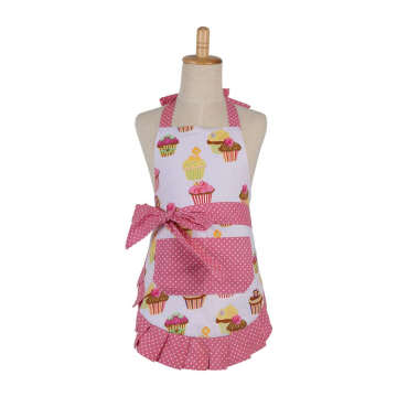 High quality girly ruffle apron with korean style apron
