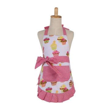 Avental feminino de alta qualidade do plissado com avental coreano do estilo