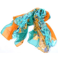 fashion chiffon printed scarf for lady