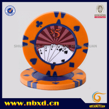 15g 2-Color Clay Poker Chip with Sticker, Sy-F08