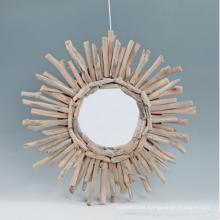 Espelho de madeira decorativo novo estilo para casa