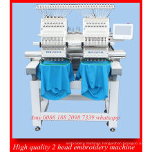 12 Languages Smart 2 Head 15 Needle Computer Control Cap Embroidery Machine Ho1502n
