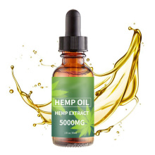 Private Label Hemp Seed Extract Oil - 5000 Mg for Anxiety Relieving Anxiety and Stress