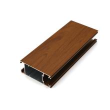 Surface de grain de bois de châssis de fenêtres en aluminium