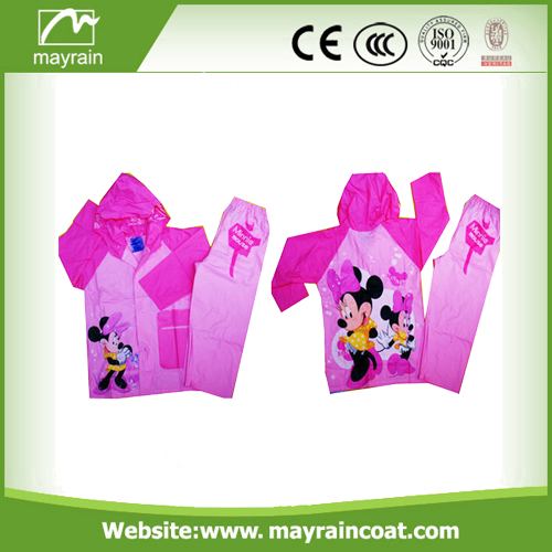 PVC Material Children Kid Rainsuit