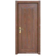 Simple Plain Design Puerta de madera sólida clásica