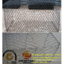 China 1x1x1m,2x1x0.5m keep earth rock cages slope greening stone baskets wall PVC gabion mesh baskets hexagonal gabion boxes