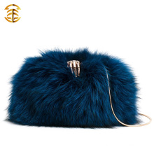 Fur Clothing And Buttercup Skull Ring Clutch Bag Fox Fur Bangbags