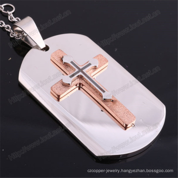 Stainless Steel Religious Catholic Pendant Necklace with Cross (IO-st236)