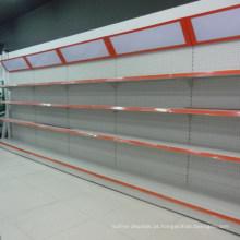 Gôndola Single Side Supermercado Prateleira com Caixa de Luz