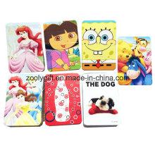 Personalizada impresa dibujos animados mini papel jugando la tarjeta / tarjeta promocional para el niño